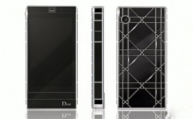 Cannage мотив от Dior на Mother-of-Pearl Touch Phone