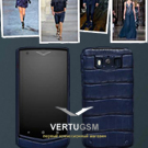 Новый Vertu Constellation Pure Alligator цвета индиго