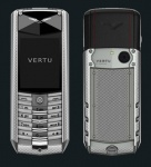 Vertu Ascent  X Polished Knurled Titanium Black Leather