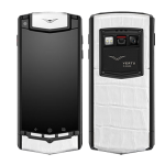 Vertu Ti Android Pure Black White Crocodile Leather