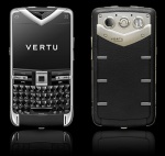 Vertu Constellation Quest Polished Black Alligator