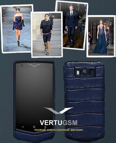 Vertu Constellation Pure Alligator Pure Navy