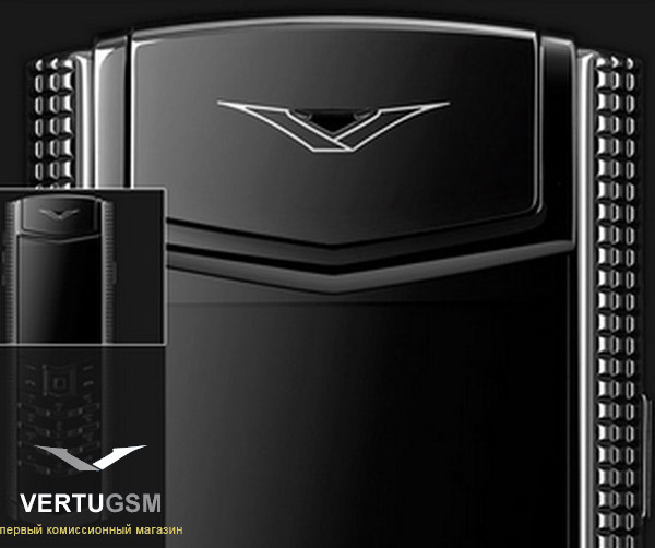 Vertu Signature Clous de Paris Black Stainless Steel дорогой телефон