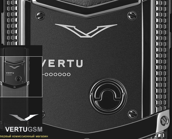 Vertu Signature Clous de Paris Black Stainless Steel новинка